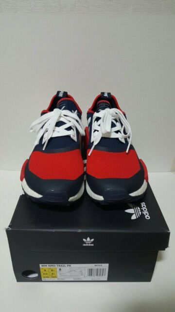 newest 110a5 d37e7 Adidas NMD Trail PK White Mountaineering BA7519 wm Navy White Red size 9