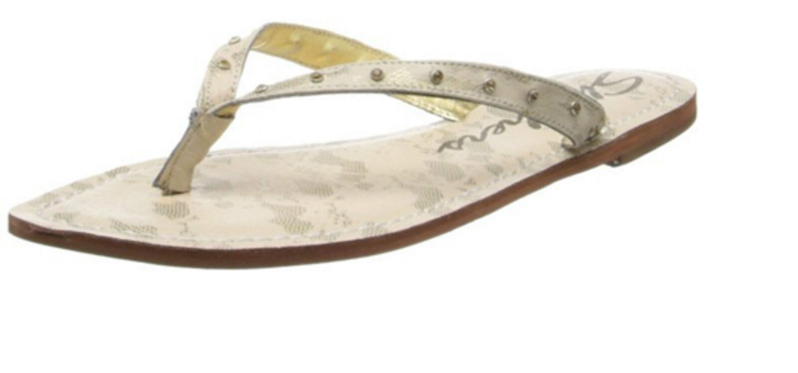 Skechers Cali Women Bare Foot Flip Flop Natural Color Sandal Sleeper Casual