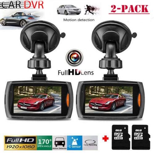 "2x 2.7/"" LCD 1080P Car DVR Camera Video Recorder Dash Cam Night Vision G-sensor"