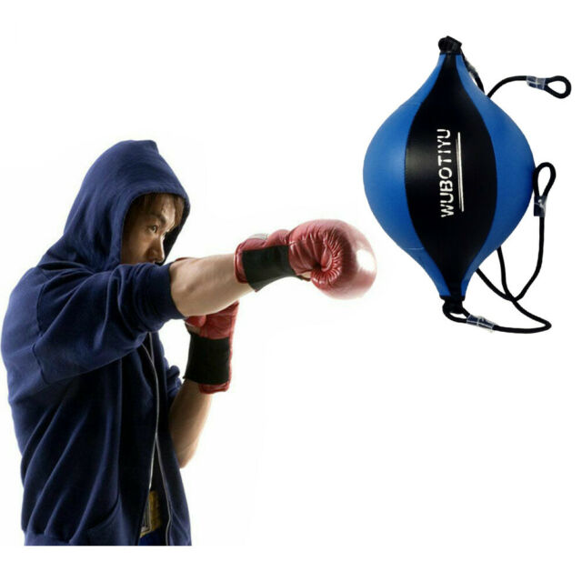 Double End Boxing MMA Martial Arts Training Punching Bag Kickboxing Gym Ball Kit