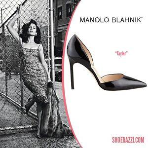 dc8c0bf2a21b New Manolo Blahnik Tayler 105 Black Patent Heels Pumps Dorsay Shoes ...