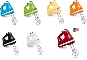 kitchenaid 5 & 6 speed ultra power hand mixer many colors khm5
