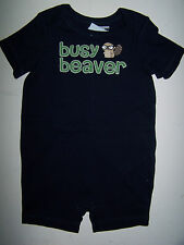 NWT GYMBOREE Smart Little Guy BUSY BEAVER with TAIL SHORTALL ROMPER PREEMIE