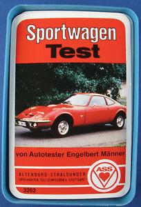 Quartett - Sportwagen Test - Opel GT - ASS Nr. 3262 - 1972 - Auto Quartettspiel