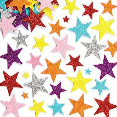 REINDEER Foam GLITTER Stickers Stocking Filler Card Making XMAS Kids Craft