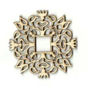Design Plaque - Unfinished Laser Cut Out Wood Shape Craft Supply DSN16