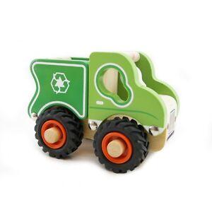 Kaper Kidz Wooden Toy rubbish truck with Rubber Wheels Children's Toy ...