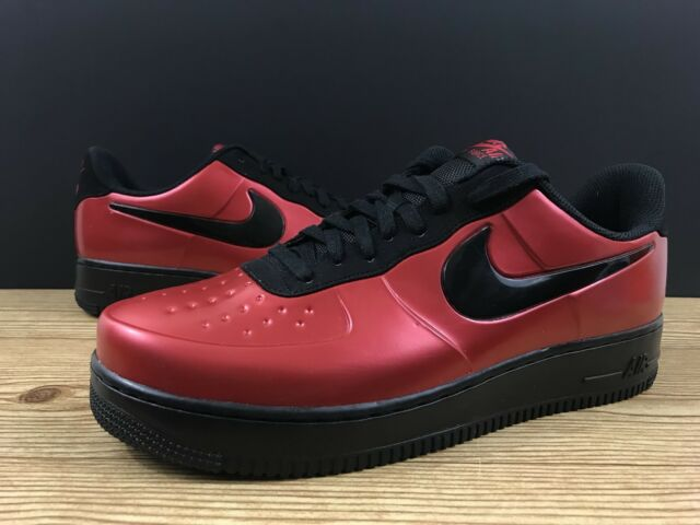 9836187216a Nike Air Force 1 Low AF1 Foamposite Cup Gym Red Black Bred AJ3664 601 Sz 13