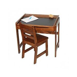 Image Is Loading Kids Walnut Desk School Chalkboard Wooden Flip Top