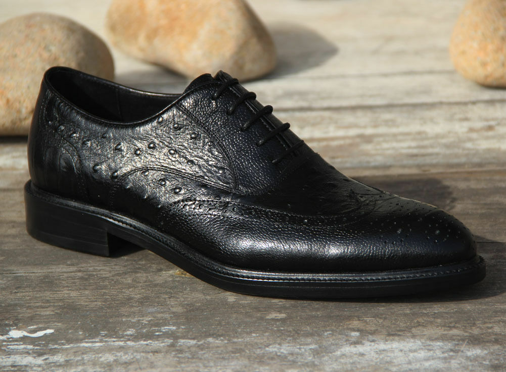 bellissimo New Genuine Leather Sole Uomo Dress Formal scarpe Lace Up Up Up Brogues Wedding WM5031  bellissima