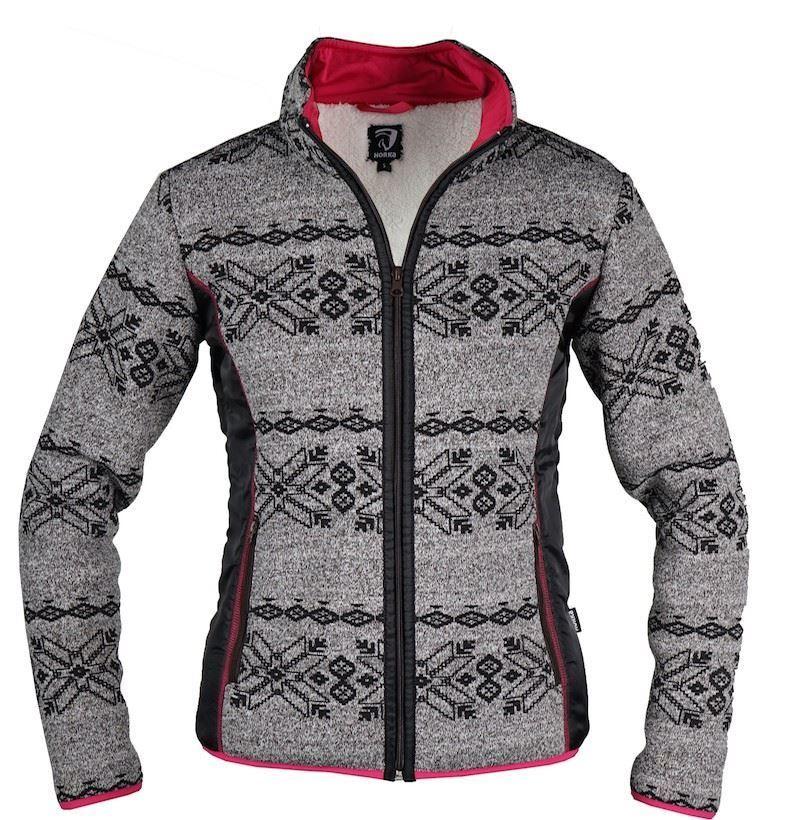 Horka Norway Paisley Ladies Winter Warm Sherpa Fleece Nordic Zip Up New Sweater