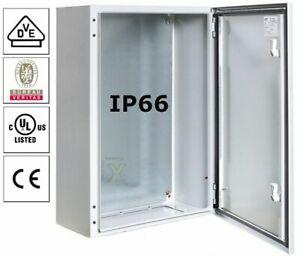 Stahlblech Schaltschrank IP66 mit Erdungsband - Wand Verteiler Metallgehäuse