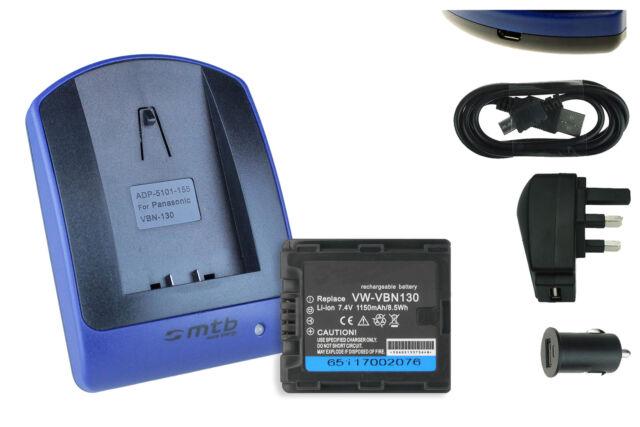 BATTERIA per Panasonic HDC sd-800 sd-900 sd-909 tm-900 hs-900 vw-vbn130