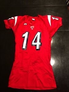 ee2faaee Game Worn Used Cornell Big Red Football Jersey Russell #14 Size M | eBay