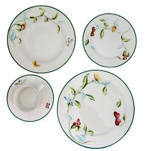 20-Piece-Martha-Stewart-Everyday-Dinnerware-Set-Butterfly-Garden-Service-for-4