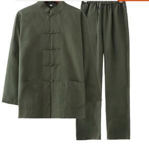 8ad4789b02 Mens Traditional Chinese Tang Suit Coat Kung Fu Tai Chi Uniform ...