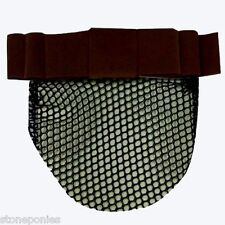 Brown Velvet Show Bow Horse Show Equine Net Snood with Ribbon