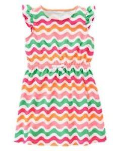 NWT-Gymboree-Girls-Hop-N-Roll-Multi-Color-Wave-Stripe-Dress-Size-7-8-amp-10