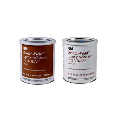 2 Per Case Glorious 3m™ Scotch-weld™ Epoxy Adhesive 2158 Gray Part B/a 1 Gallon Kit