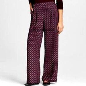 af3ca8438a3c6 Image is loading Womens-Merona-Plaid-Print-Wide-Leg-Pants-NWOT-