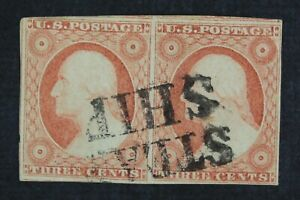 CKStamps-US-Stamps-Collection-Scott-11A-3c-Washington-Used