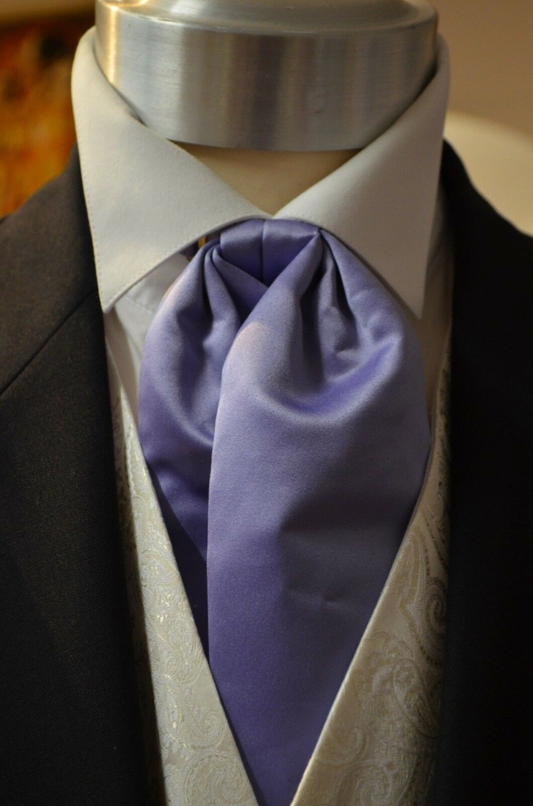 Pre-Tied Adjustable Classic Cravat Lilac Wedding, Formal, Prom