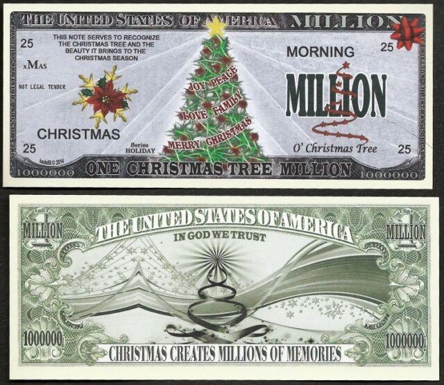 lot of 100 bills christmas tree million novelty joy peace love family - Family Dollar Open On Christmas