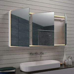 Nice Das Bild Wird Geladen Alu LED Beleuchtung Badezimmerspiegelschrank  Badschrank Badmoebel Kosmetikspiegel