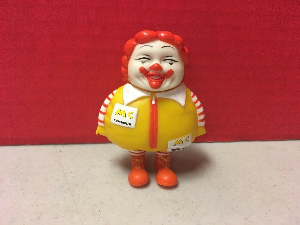 Ron English MC SuperGrößed 3  Vinyl Figure Gelb rot Pop Culture Fast Food Used