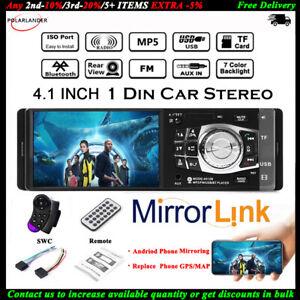 4-1-039-039-Single-1-Din-Coche-MP5-Player-In-Dash-FM-Bluetooth-Radio-Audio-Estereo-MP3