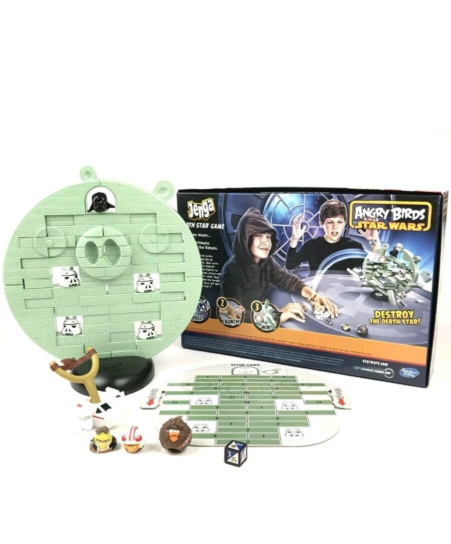 HASBRO Rovio Angry Birds Star Wars Jenga Etoile de la mort Board Game New in Box Rare Noël