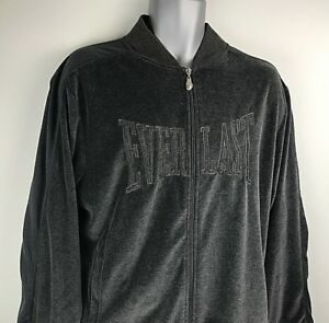 VTG-EVERLAST-Workout-Jacket-Mens-Full-Zip-Black-Size-Large-Boxing-RN-85984