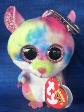 RODNEY the Hamster TY Beanie Boos Glitter Eyes - MWMT Boo Plastic Key Clip