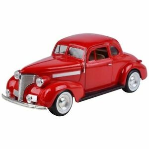 Chevrolet-Coupe-1939-Echelle-1-24-Motormax-Modele-Rouge