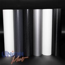 3d 4d Carbon Fibre Vinyl Wrap Airbubble Free Black White Grey Small Sizes