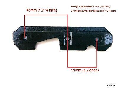 AK Series Soviet Tactical Side Mount Rail Plate Steel Heavy Duty Black Fast UK