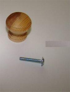 1x-Knopf-aus-Holz-Kiefer-ROH-Durchmesser-30mm-Gesamthoehe-30mm-1x-Schraube