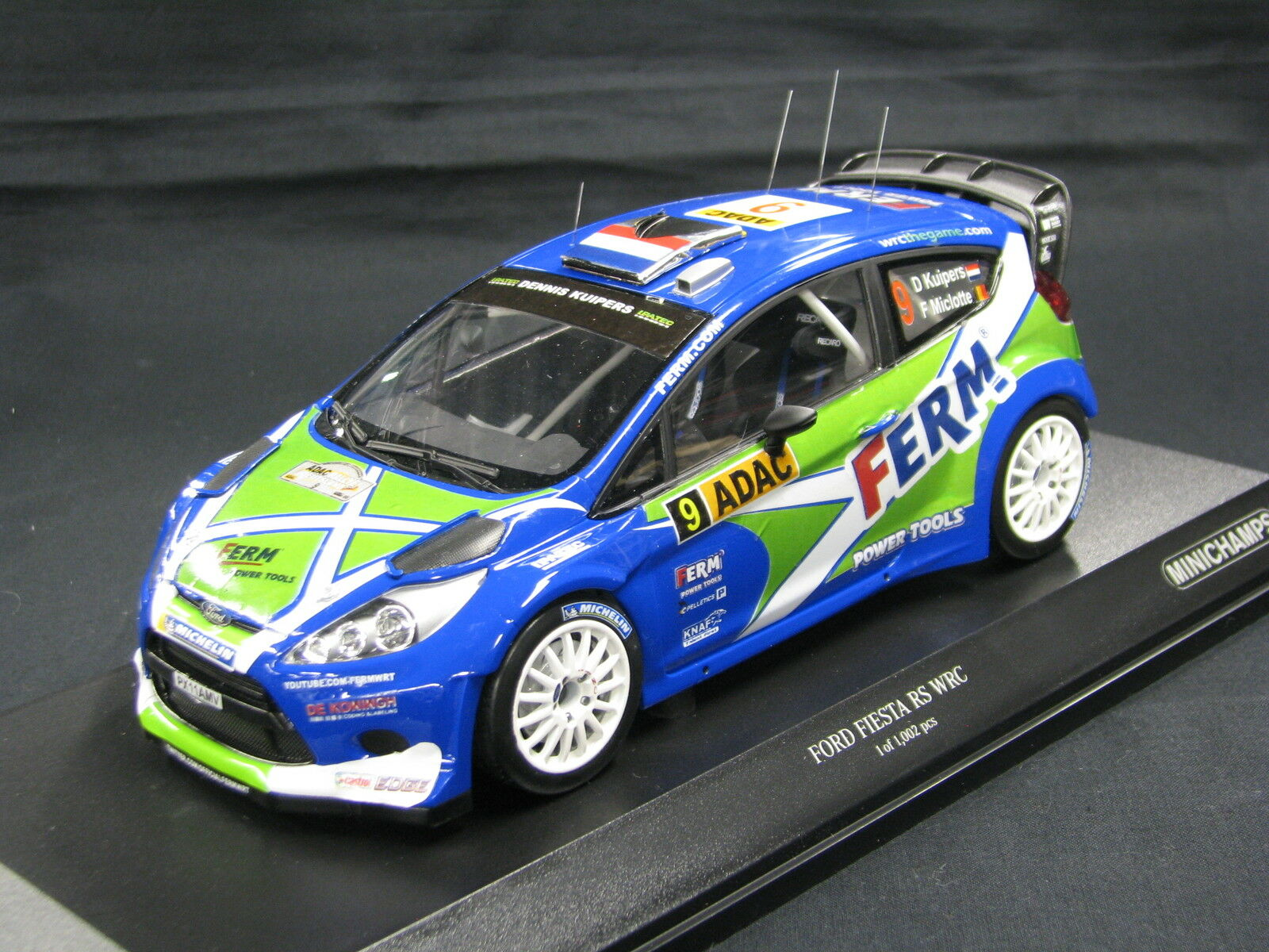 Minichamps Ford Fiesta WRC 2011 1 18  9 Kuipers   Miclotte Deutschland (MCC)