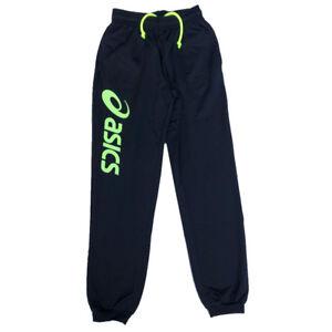 Asics Jeunes Sport Pantalon Entraînement Bas Noir 116cm,128cm,140cm,152cm Vêtements Garçons (2-16 Ans)