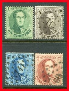 Belgium Postage Stamps Scott 13 16 Used Complete Set B942 Ebay