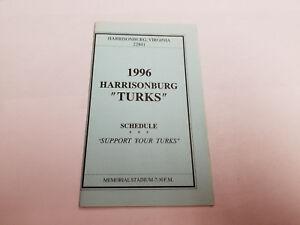 Keiths Auto Sales >> Details About Harrisonburg Turks 1996 Minor Baseball Pocket Schedule Keith S Auto Sales
