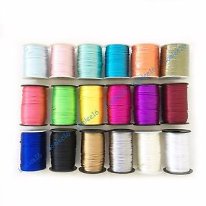 10y-100yd-2mm-Satin-Rattail-Cord-Nylon-Shamballa-Macrame-Beading-kumihimo-string
