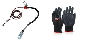 Handschuhe Kletterausrüstung Baumpflege Fallschutz TOP Seilkürzer Halteseil 4m