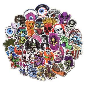 50-Scary-Horror-Themed-Mixed-Skateboard-Stickers-Skull-Blood-Gore-Sticker-Bomb