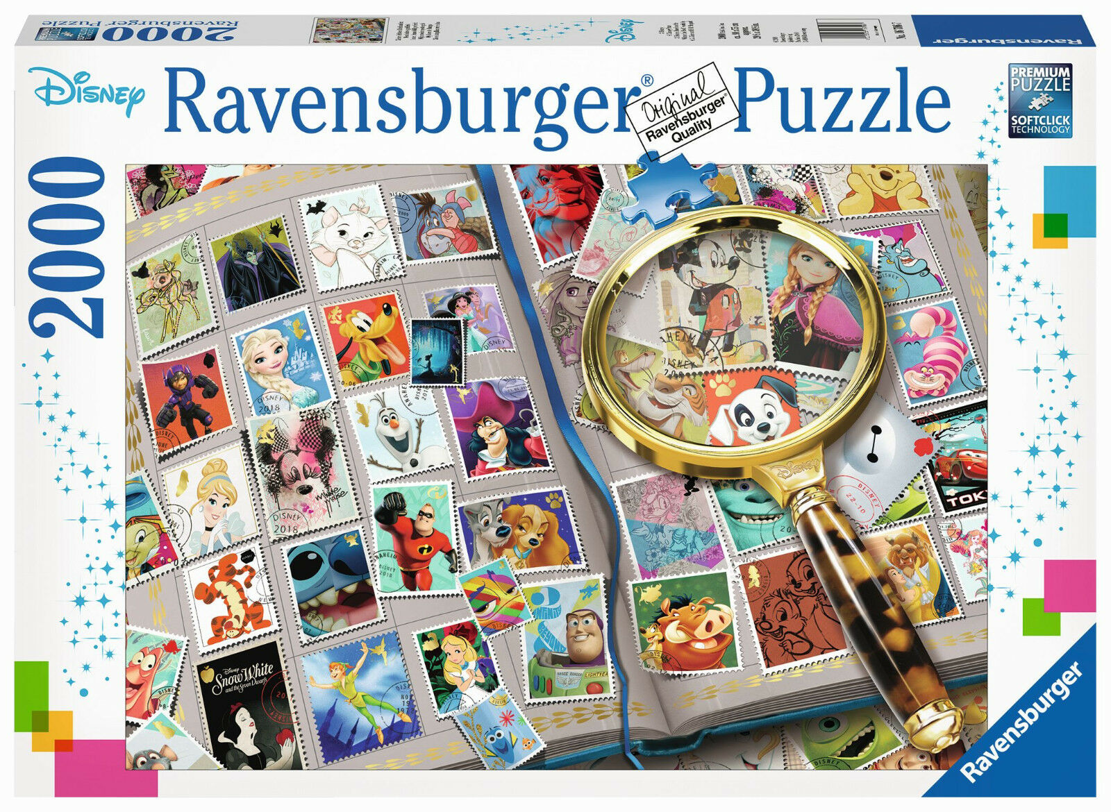 Ravensburger 16706 - Mine Favorite Stamps, 2000 Pieces, Nip