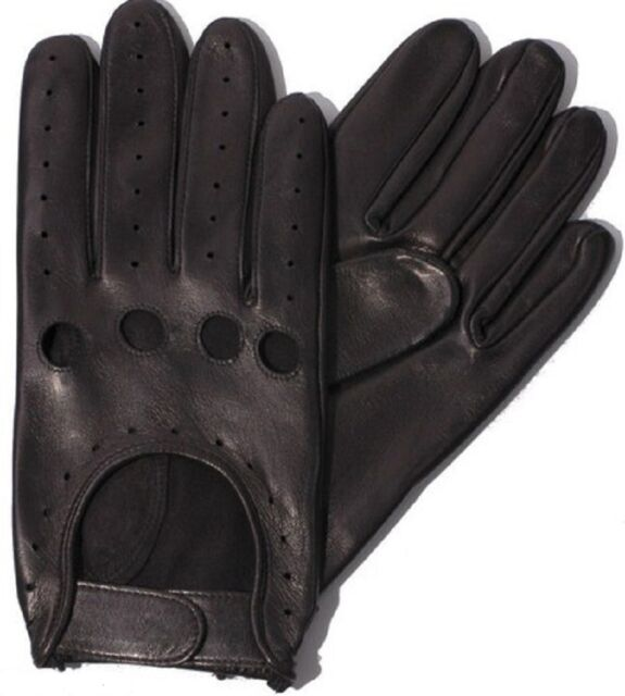 Motorbike Car Driving Gloves Genuine Leather Chauffeur Style Fashion Vintage