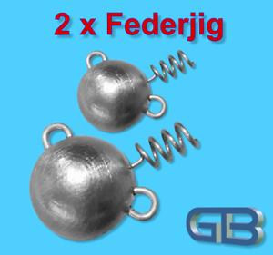 2-x-Federjig-Schraub-Jigkopf-8g-100g-Jighaken-fuer-Gummifische-Spiral-Jig