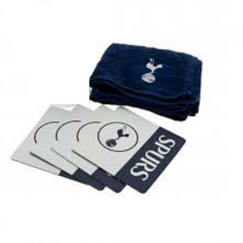Nouveau Tottenham Spurs FC-Symbole Coton barre rouge serviette et 4 Coasters Beermats