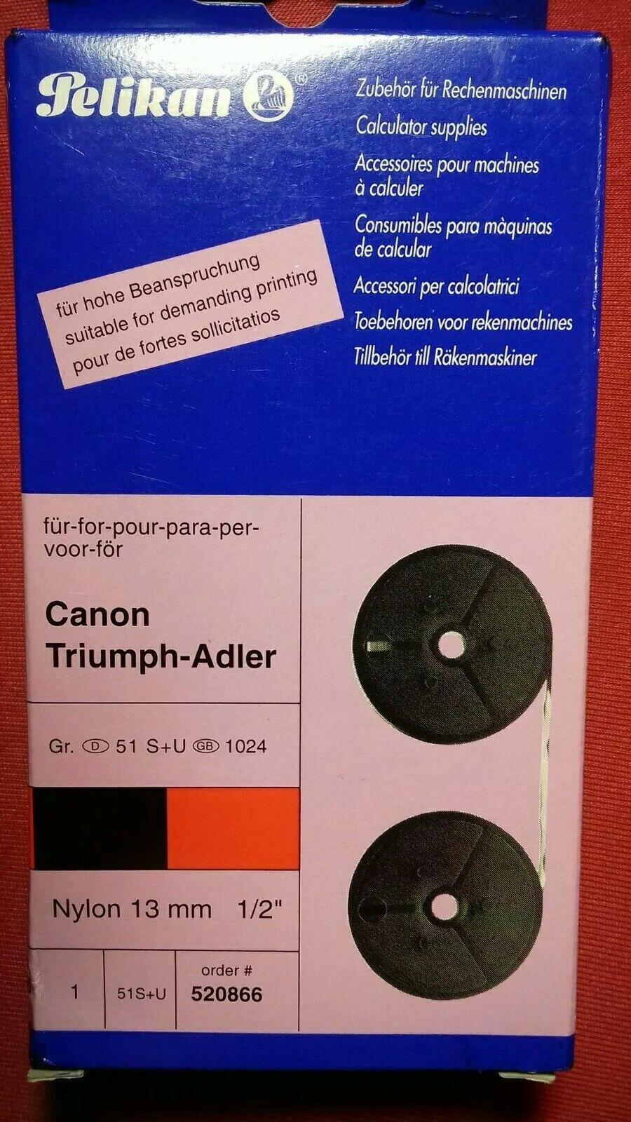 Pelikan Farbband für Rechner Nylon schwarz rot