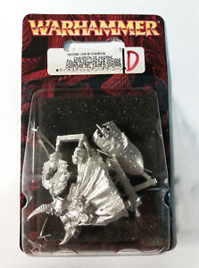 WARHAMMER-Khorne-Chaos-Champion-Campione-del-Caos-Khorne-Blister-NEW-METAL
